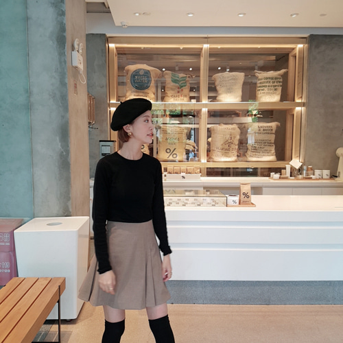 waitan wool beret ; 1color
